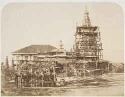A Hindoo Temple, near the Railway Station at Bycullah [Bombay].